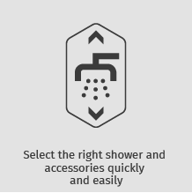 Select the right shower and accessories quickly and easily