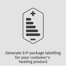 Generate ErP package labelling for your customer's heating product